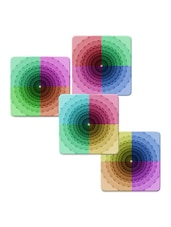 """Colorfull Floral"" Printed Mdf Coaster Set - Shopkeeda"