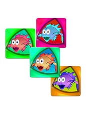 """Fish Shocked"" Printed Mdf Coaster Set - Shopkeeda"