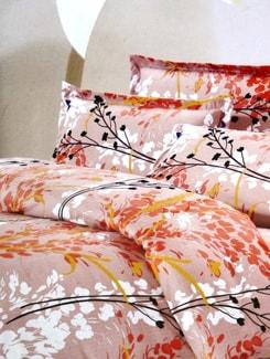 Orange Poly Cotton Bedsheet Set - Aqua Marine