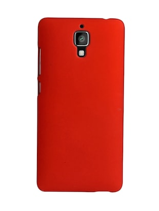 red plastic mobile cover