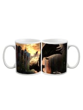 Girl With Wings In City Mug - Arcart