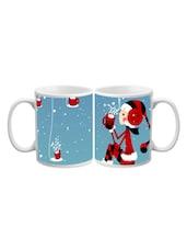 Santa Girl With Coffee Printed Mug - Start Ur Day