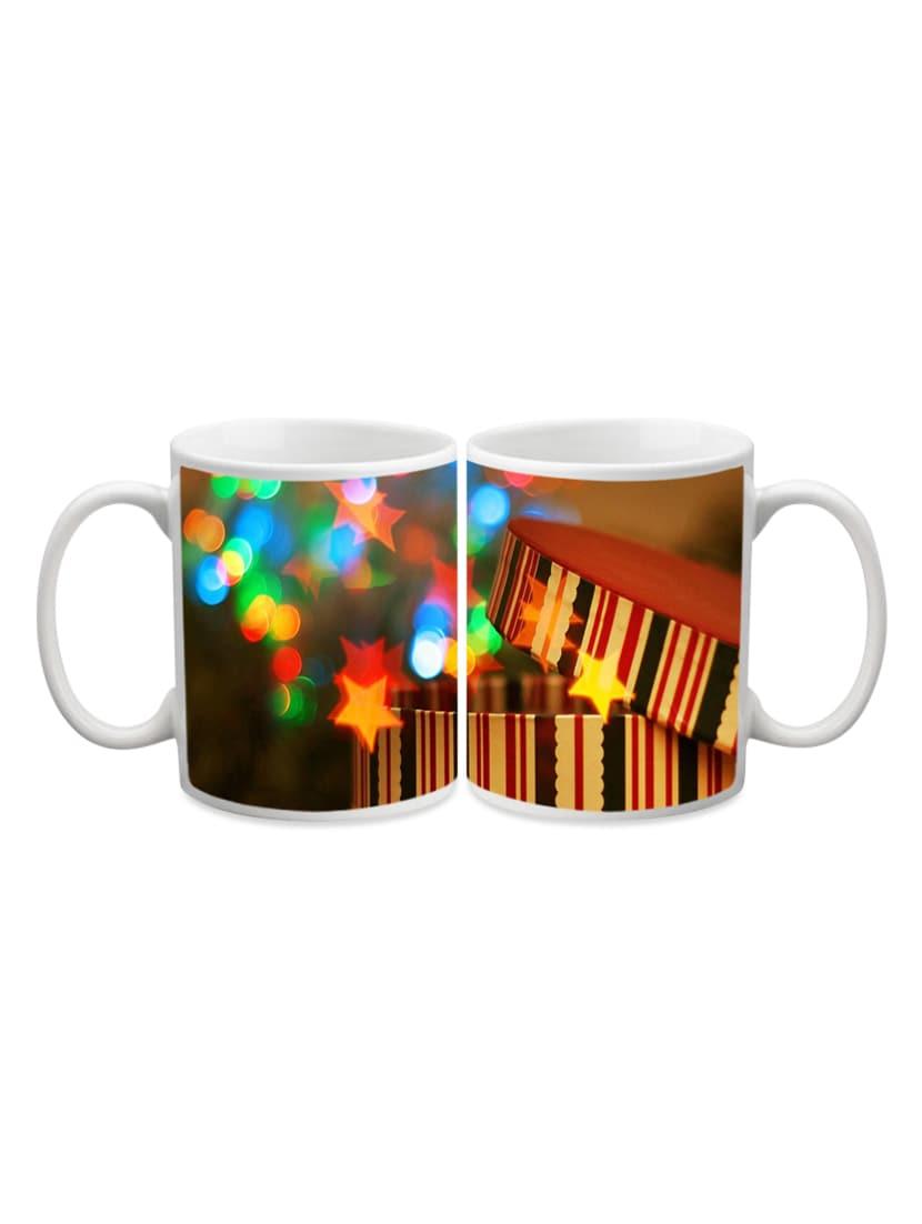 Colorful Star In Box Printed Mug - Start Ur Day