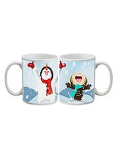 Snow Man Printed Ceramic Mug - Timepass