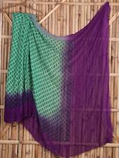 Green And Purple Semi Georgette Saree - Siya