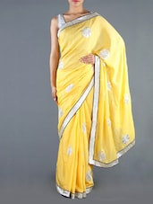 Yellow Jute Saree - Siya
