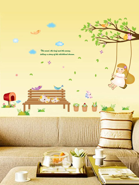 Buy Wall Stickers Baby Room Decor Garden Nursery Kids Theme Girl ...