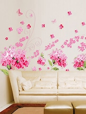 Charming Wall Stickers Flowers Pink Blossoms For Living Room Art And Butterflies  Vinyl   Online Shopping For Part 21