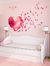 Wall Stickers Love You Hearts Blowing In Pink DIY Bedroom Design   Online  Shopping For Wall Part 84