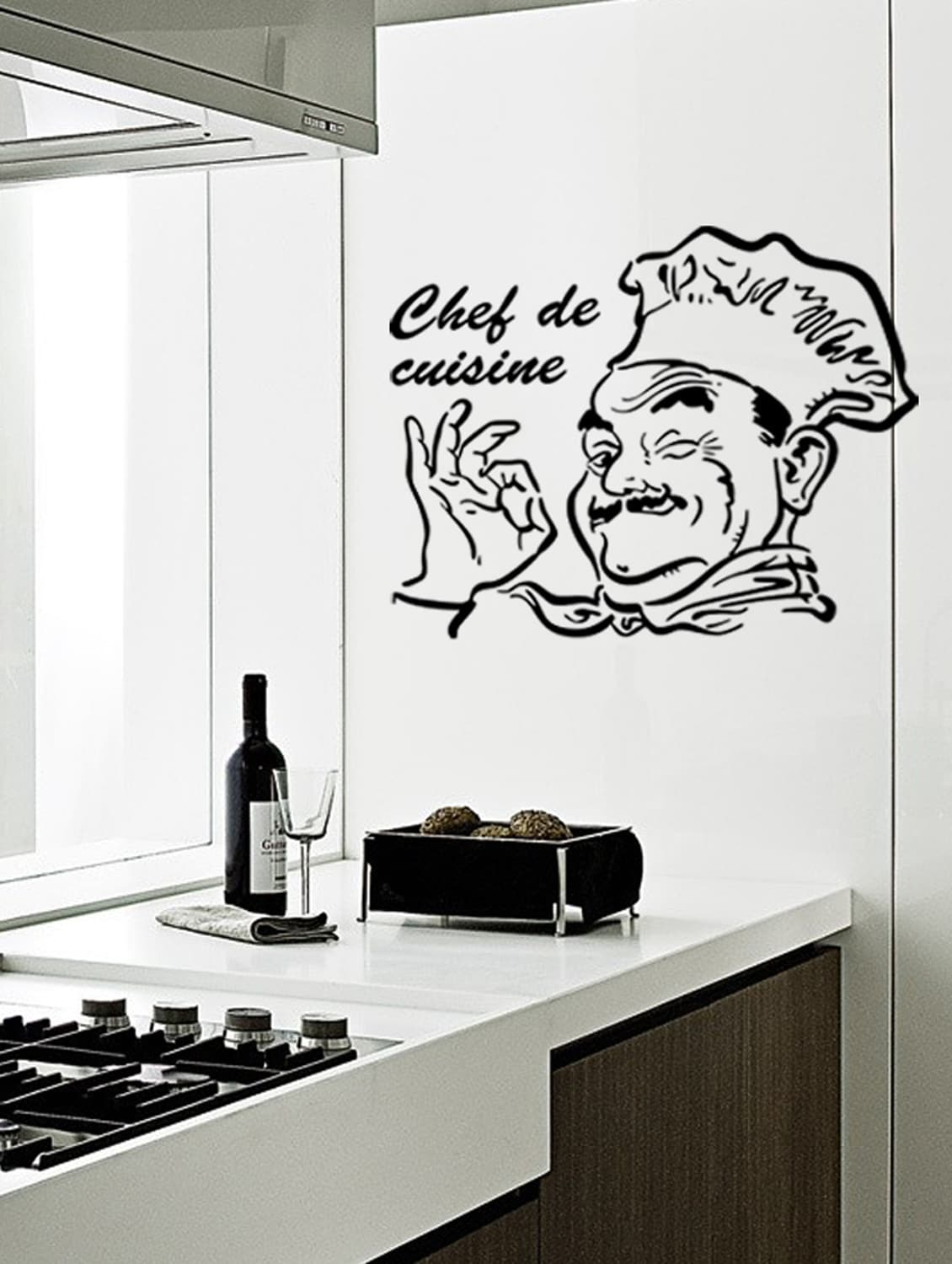 Buy Wall Stickers Kitchen Stylish Design Chef De Cuisine