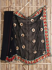 Black Embroidered Georgette Saree - Bandhni