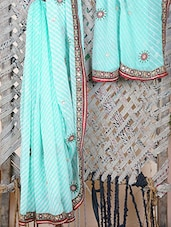 Georgette Embellished Leheriya Saree - Bandhni