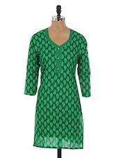 Mandarin Collar Cotton 3/4th Sleeve S Kurti - Sale Mantra