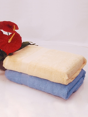 Bianca white, blue COTTON towel set