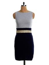 Sleeveless Embellished Belt DRESS - VEA KUPIA