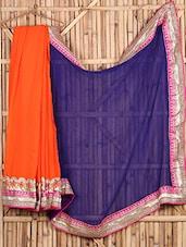 Gota Lace Georgette Bordered Saree - Saree Street