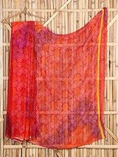 Full Bandhni Paisley Printed Sheer Saree - Saree Street