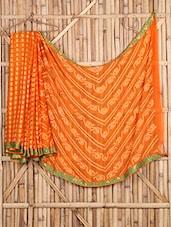 Bandhni Printed Georgette Bordered Saree - Saree Street - 1038703