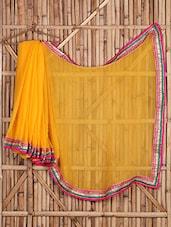 Chiffon Embroidered Sheer Bordered Saree - Saree Street