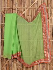 Sheer Chiffon Gota Bordered Saree - Saree Street