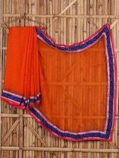 Bhandhej & Embroidered Bordered Saree - Saree Street