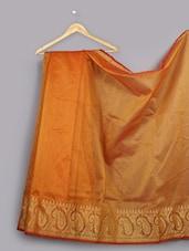 Paisley Zari Woven Cotton Silk Saree - WEAVING ROOTS
