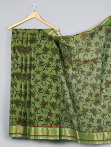 Printed Cotton Silk Saree - WEAVING ROOTS