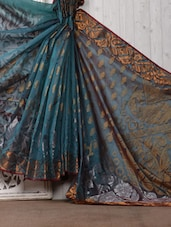 Green Zari Work Brasso Cotton Silk Saree - Bunkar