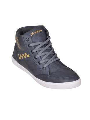 grey faux leather sneaker