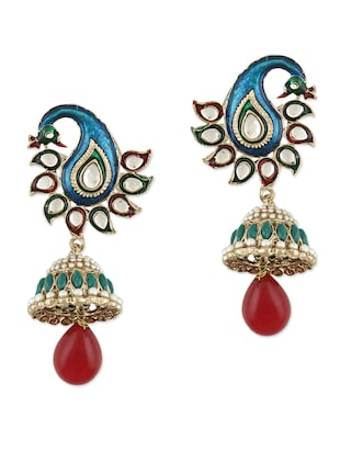 Gold Traditional Peacock Jhumkas