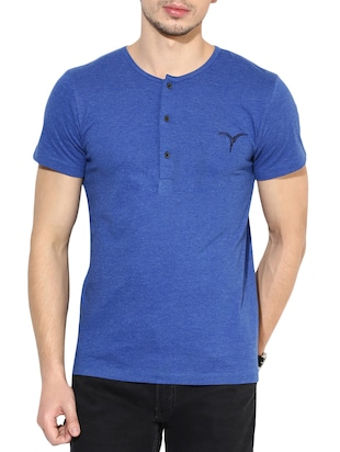 royal blue cottonpoly tshirt