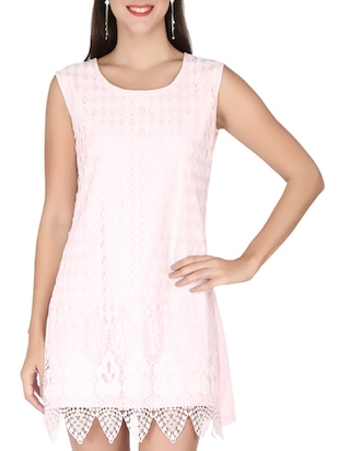 ice pink georgette dress