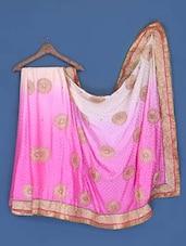 Pink And White Shaded Saree - Suchi Fashion