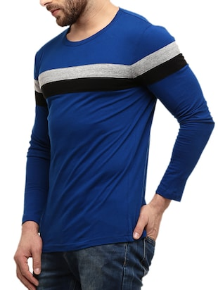 dark blue striped cotton t-shirt - 10420976 - Standard Image - 2