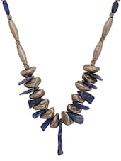 Silver,black Antique Silver Alloy Plated  Tribal Necklace - By