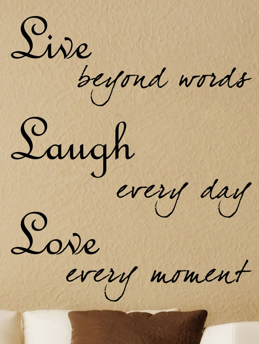 Awesome Love Laugh Live Wall Decor Contemporary - The Wall Art ...