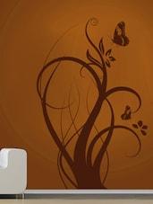 Floral Branch With Butterflies Wall Sticker - Decor Kafe