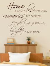 """ Home Is … "" Wall Sticker - Decor Kafe"