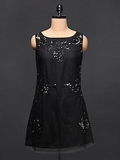 Black Sequined Dress - Love With India