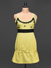 Yellow Floral Lace Dress - Love With India
