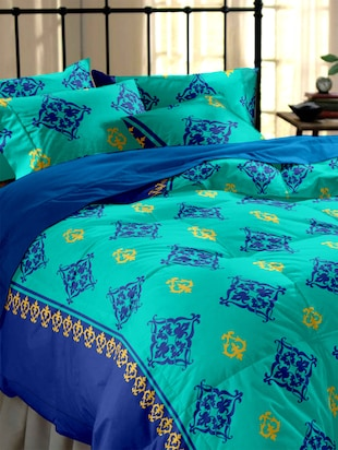 Printed cotton Double Bedsheet Set