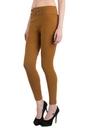 tan cotton jeggings - 10460734 - Standard Image - 2