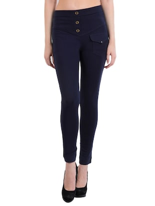 blue cotton jeggings