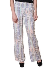 Aztec Inspired Printed Polyester Palazzo - Purys