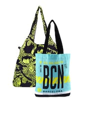Graphic Printed Canvas Tote Bags Combo - Be... For Bag - 1046711
