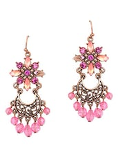 Flower Shaped Pink Stone Earing - Dynamic Designs