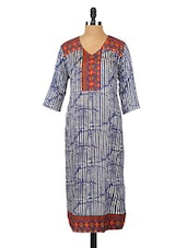 Quarter Sleeves Printed Kurta - Fashion205