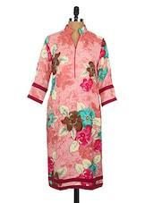 Floral Print Crepe Kurta - Fashion205