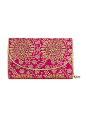 Pink Satin Clutch - By