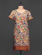 Paisley Printed Short Sleeve Kurti - Paislei